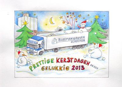 Kerstkaart voor Buseman Granen