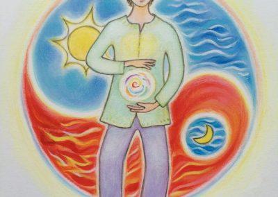 Illustratie voor een Qigong folder