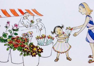 Illustratie uit lesmateriaal voor Leeslijn serie ThiemeMeulenhoff