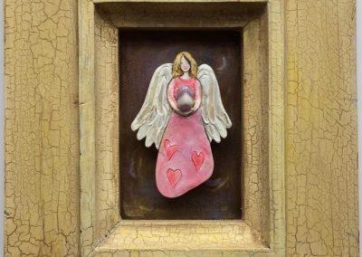 Engel met amethyst