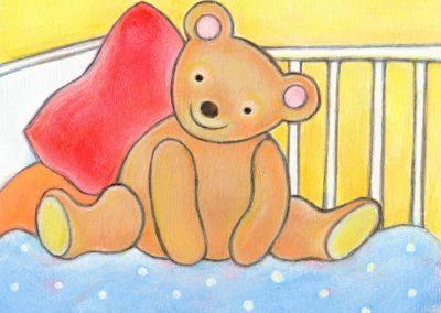 """Illustratie uit """"Huggyduggybuggy"""" van Dirk Scheele."""