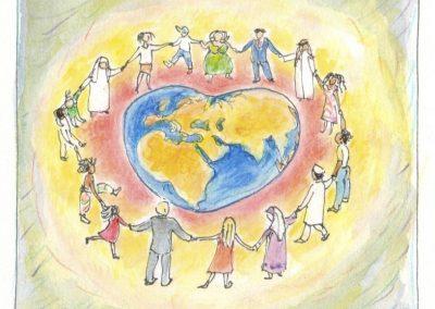 Illustratie voor vrede